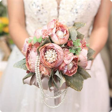 Wedding Bouquet Artificial by Vintage European Style Luxury Change Wedding Artificial