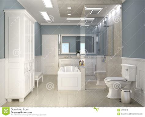 Modern Classic Bathroom by Modern Classic Bathroom With Wc Stock Photo Image Of