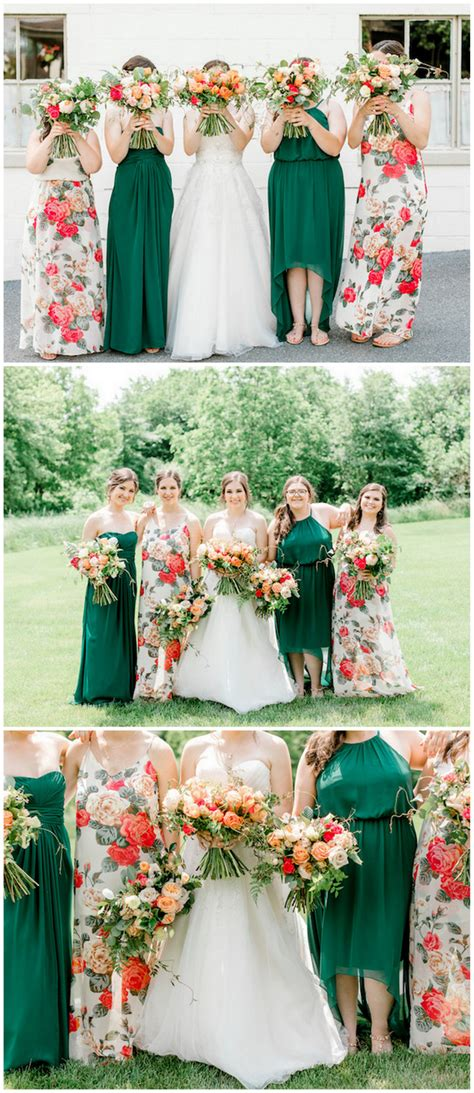 vibrant coral mint gold wedding with awesome geometric deets