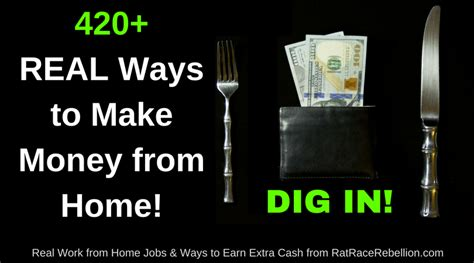 420 ways to make money from home check our big list now