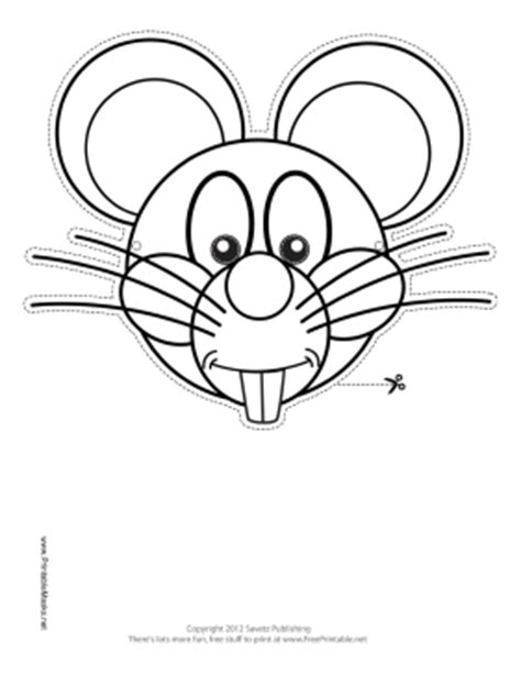 printable mouse mask template mouse mask template