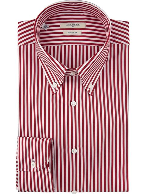 Button Collar Striped Shirt business style delsiena striped shirt button collar