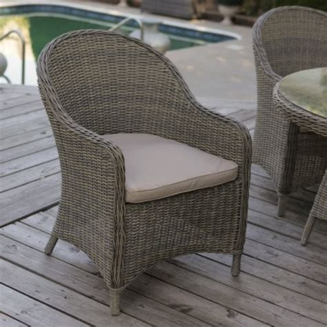 mingle all weather wicker patio dining chair set of 2
