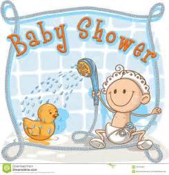 Toddler Bath Tub For Shower baby shower cartoon invitation stock photos image 32415643