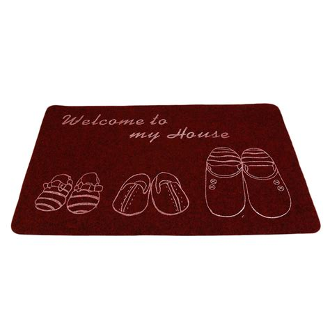 Thin Bath Mat Ultra Thin Non Slip Bath Home Mats Entrance Door Doormat Home Foyer Floor Mud Lo Ebay
