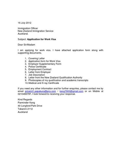 covering letter for visa application cover letter for visa application new zealand essay potna
