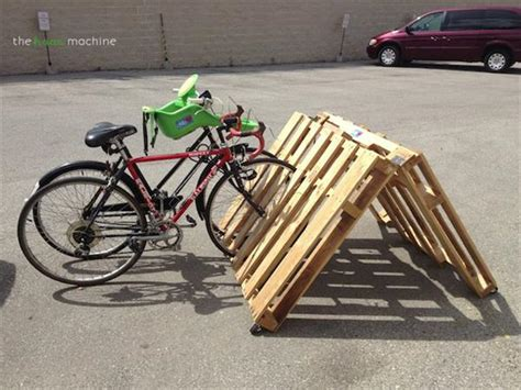The Bicycle Rack by 5 Simple Diy Pallet Bicycle Rack Pallets Designs