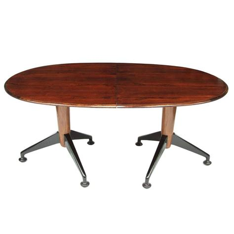 1950s rosewood extendable dining table by a j milne for