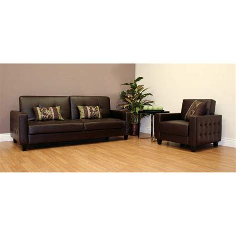 futon roma rome faux leather convertible futon sofa bed and chair