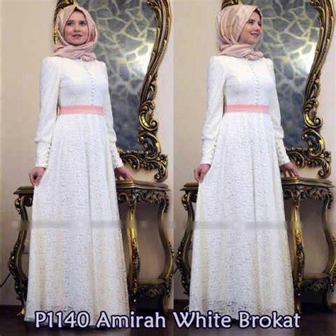 Gamis Pesta Jumbo Mewah baju muslim pesta amirah brokat y1140 model gamis mewah