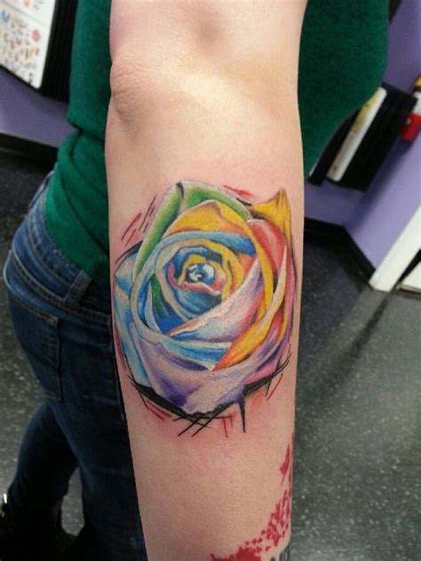 tattoo meanings rose rainbow meaning colorful