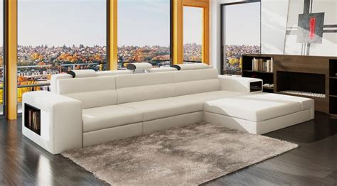 Luxury Desks For Home Office White Leather Sectional Polaris Mini Leather Sectionals