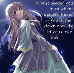 depressed anime girl with quotes. quotesgram