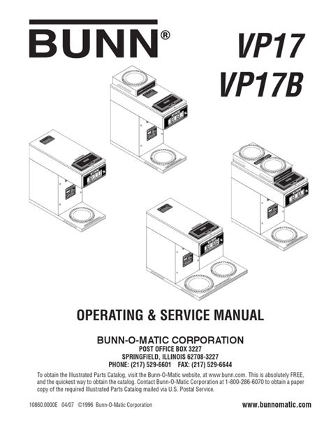 bunn vp 17 parts wiring diagrams wiring diagram schemes