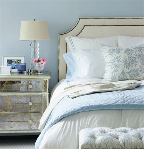 Glass Headboard by Mirror Nightstand Bedroom Muse Interiors
