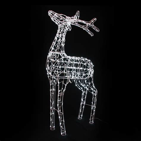 3d led reindeer white structure h1 80cm 360 led