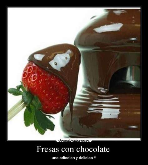 imagenes de palabras fresas fresas con chocolate desmotivaciones