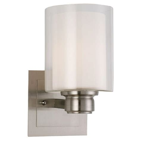 Indoor Wall Mount Light Fixtures Design House Oslo 1 Light Satin Nickel Indoor Wall Mount 556134 The Home Depot