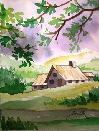 easy watercolor paintings | showing (20) pics for easy