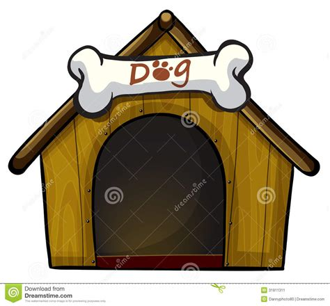 dog house background a dog house with a bone stock image image 31911311