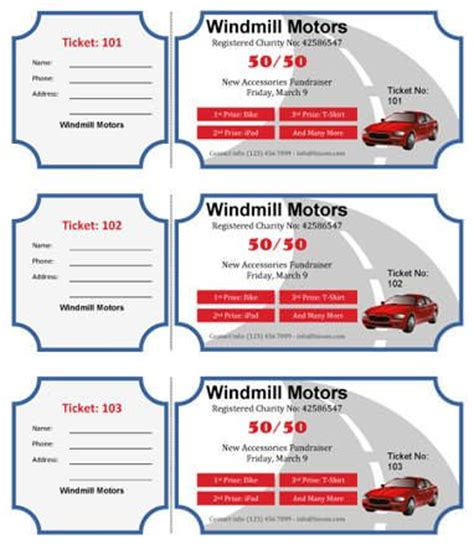 32 Best Raffle Flyer And Ticket Templates Images On Pinterest Ticket Template Flyers And Custom Raffle Ticket Template