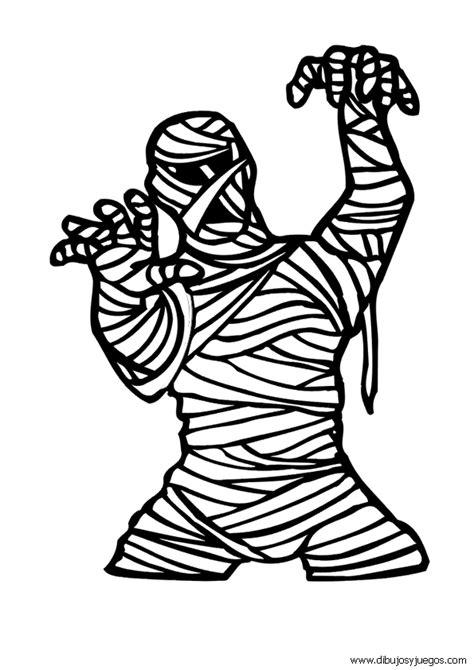 imagenes momias halloween dibujo de halloween momia 008 dibujos y juegos para