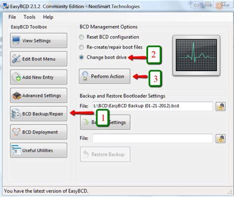 easybcd windows 10 tutorial bootmgr move to c with easybcd windows 7 help forums