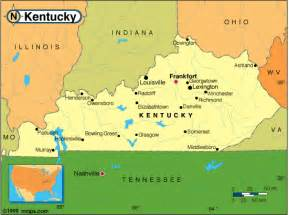 kentucky counties road map usa