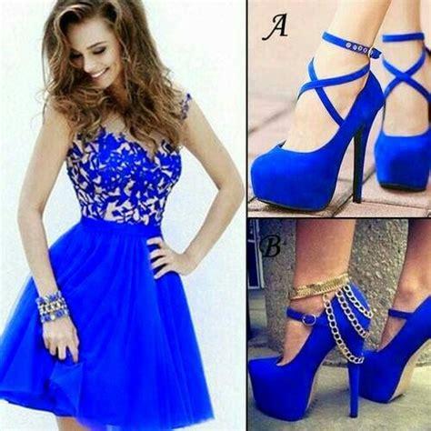 imagenes vestido negro con azul vestidos azul rey