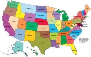 Fifty states of the united states of america in alphabetical order