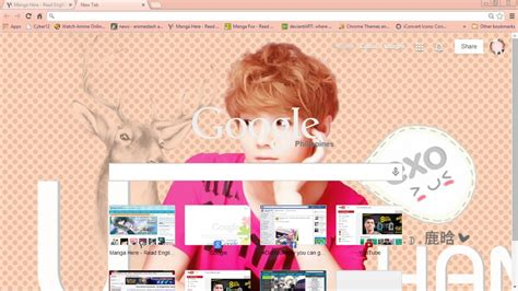 theme google chrome exo wolf exo luhan google theme by megumikeigo on deviantart
