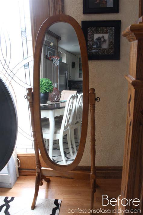 diy chalk paint mirror rosette framed mirror hometalk
