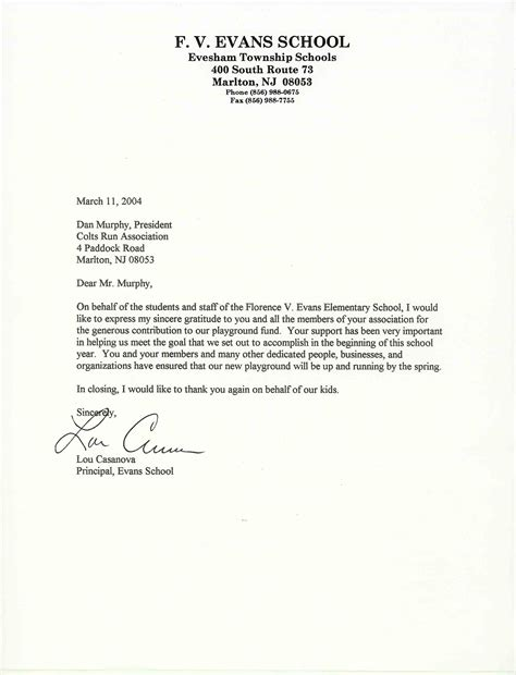 Thank You Letter Format Business Formal formal letter for school formal letter template
