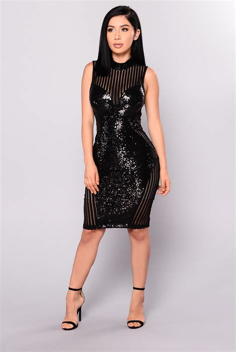 best black dress on top sequin dress black