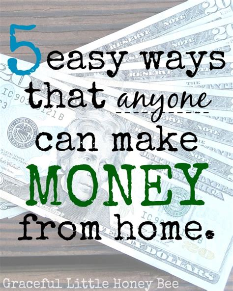 Make Easy Money Online From Home - how can i make money at home for free fast ways to get money