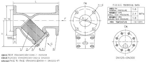 Y Strainer Drawing by Dn32 Dn600 Ductile Iron Flanged Y Strainer Buy Strainer