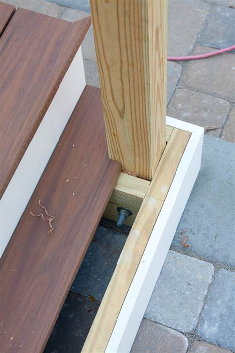 how to install a l post newel post installation on a porch or deck bailey carpentry
