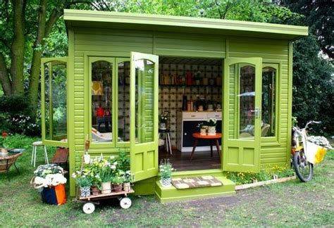 Garden Retreat Shed by Green Garden Shed Backyard Retreats And Sheds