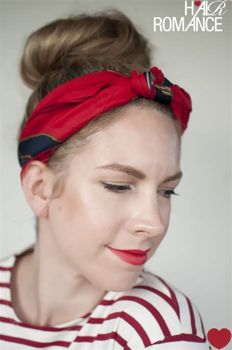 5 ways to wear a scarf and a top knot 3 knot headband