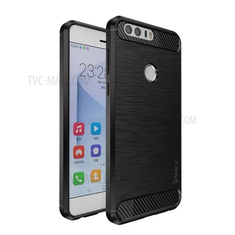 Huawei P8 Thin Softgel With Carbon Brush Texture Cover ipaky for huawei honor 8 brushed tpu phone cover black