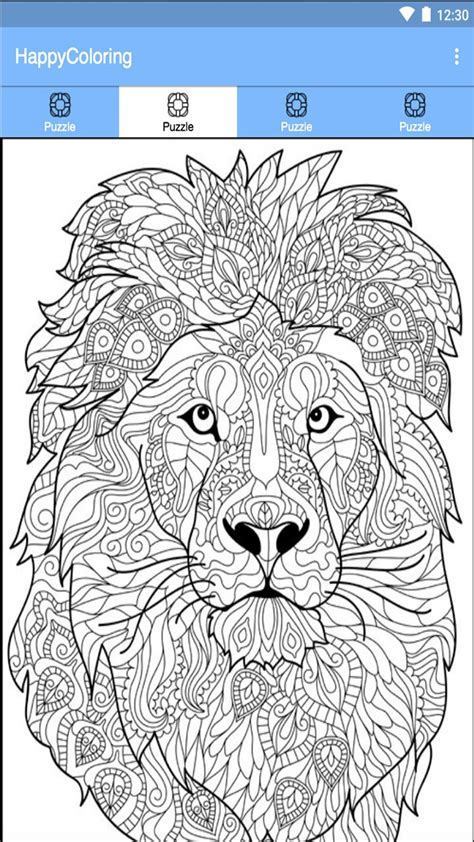 paint  number happy color pixel lion coloring pages animal coloring books animal coloring