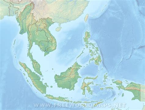 se asia physical map southeast asia physical map
