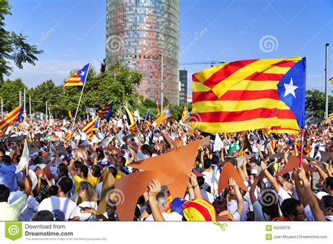 barcelona independence rally in support for the independence of catalonia in