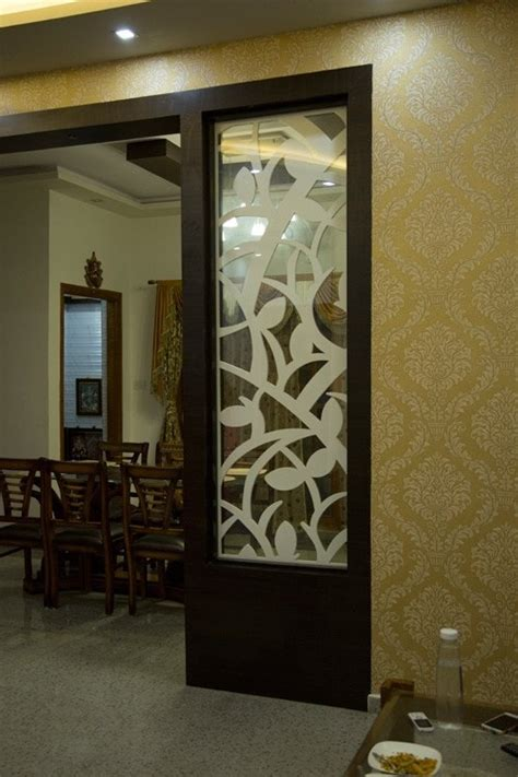 living room partition designs villa interiors of mr jithendra s 4bhk bonito designs