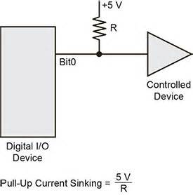 pull up resistor configurations digital i o techniques