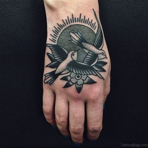 swallow tattoo on each hand 42 unique swallow tattoos on hand