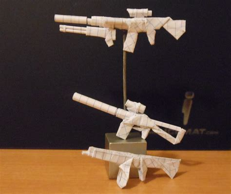 origami weapons 1 by solidmark on deviantart