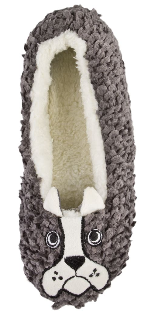 womens pug slippers womens slippers pug bow mules knitted ballet pumps size uk 3 8 ebay