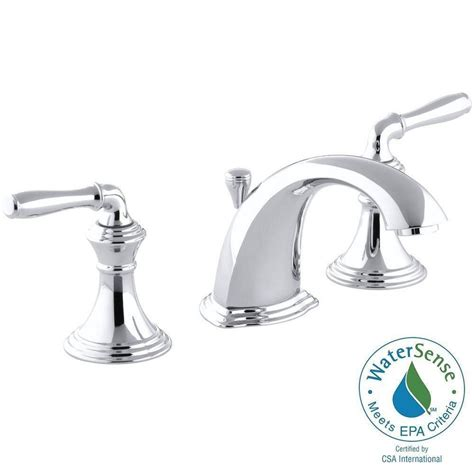 8 bathroom faucet kohler devonshire 8 in widespread 2 handle low arc bathroom faucet in polished chrome k r394 4