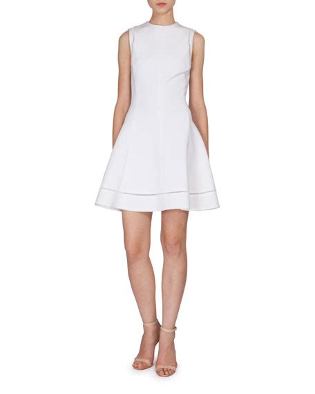 Beckham Sell Outs A Dress Before It Hits The Shop Floor by Beckham Sleeveless Fit Flare Dress White